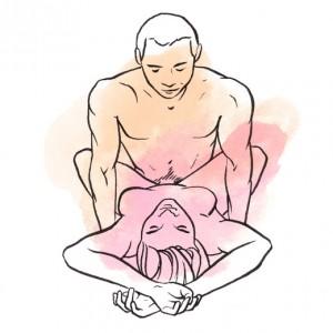 Posiciones Que Te Ayudarán a Durar Más En La Cama perpendicular